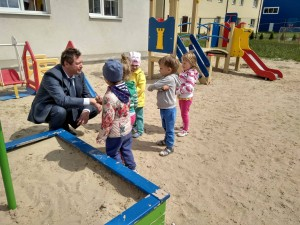 "На площадке частного детского сада ""Апельсин"" (г.Белгород)."